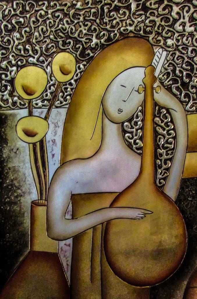 Gemälde in Kupferstichtechnik